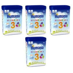 Zestaw 3+1 gratis HUMANA 3 800g Mleko następne dla dzieci Od 12. miesiąca życia