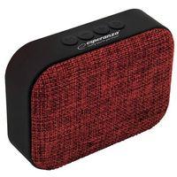 Stacje dokujące do odtwarzaczy, Głośnik mobilny ESPERANZA Samba EP129R Czerwono-czarny