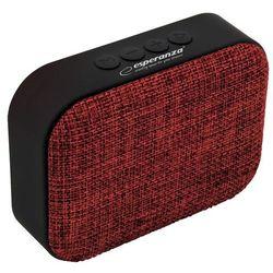 Głośnik mobilny ESPERANZA Samba EP129R Czerwono-czarny