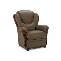 Fotel 100% skóry bawolej ADELAIDE - Kolor: taupe
