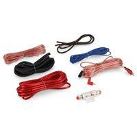 Pozostałe car audio-video, Electronic-Star Zestaw kabli samochodowych- pozłacany Cablekit Car 60A AGU