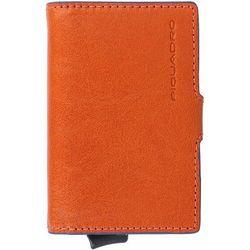 Piquadro B2S Etui na karty bankowe RFID skórzana 6,5 cm orange ZAPISZ SIĘ DO NASZEGO NEWSLETTERA, A OTRZYMASZ VOUCHER Z 15% ZNIŻKĄ