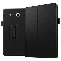 Czarne etui skórzane PU Stand Cover Galaxy Tab E 9.6 T560 - Czarny
