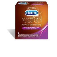 Prezerwatywy, Durex Real Feel dodatkowo nawilżone (1 op. / 3 szt.)
