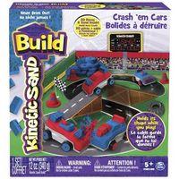 Piasek kinetyczny, Kinetic Sand Build - piasek konstrukcyjny Samochody-Zderzaki 340g - BEZPŁATNY ODBIÓR: WROCŁAW!