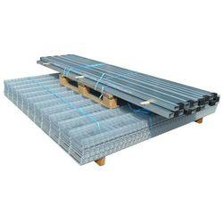 vidaXL Panele ogrodzeniowe 2D z słupkami - 2008x2030 mm 22 m Srebrne Darmowa wysyłka i zwroty
