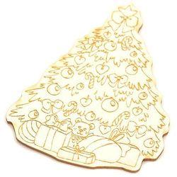 Świąteczna choinka z grawerem tekturkowa dekoracja