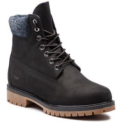 Trapery TIMBERLAND - Premium 6 In Waterproof Boot TB0A1UEJ0011 Black Nubuck