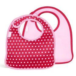 Śliniaki dla dzieci Mess Mate 2 szt. Pink Mini Dots