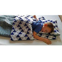 Śpiworek przedszkolaka trójkąty + worek
