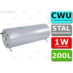 Bojler JOULE Cyclone 200L poziomy 1W 1-wężownica nierdzewka wymiennik podgrzewacz CWU Wysyłka GRATIS