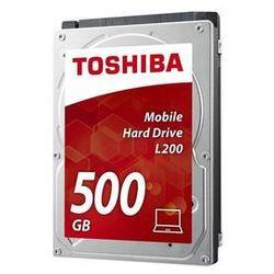 """Toshiba L200 - Slim - hard drive - 500 GB - SATA 3Gb/s Dysk twardy - 500 GB - 2.5"""" - 5400 rpm - SATA-300 - 8 MB cache"""