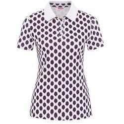 Shirt polo z nadrukiem bonprix biały z nadrukiem