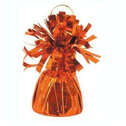 Obciążnik foliowy do balonów napełnionych helem - pomarańczowy - 176 g.