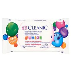 CLEANIC 15szt Junior chusteczki odświeżające o zapachu gumy balonowej