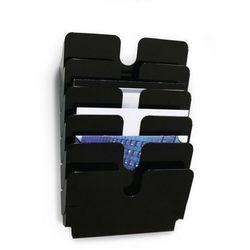 Pojemniki na dokumenty poziome A4 LANDSCAPE 6 szt. FLEXIPLUS kolor czarny 17000140 61