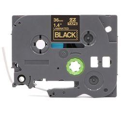 Taśma Brother TZe-364 czarna/złoty nadruk 36mm x 8m   OSZCZĘDZAJ DO 80% - ZADZWOŃ! 730 811 399