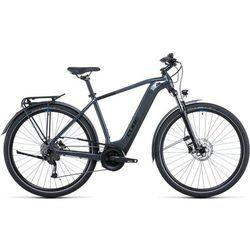 """Cube Touring Hybrid ONE 400, szary/niebieski 50cm   S (28"""") 2022 Rowery elektryczne Przy złożeniu zamówienia do godziny 16 ( od Pon. do Pt., wszystkie metody płatności z wyjątkiem przelewu bankowego), wysyłka odbędzie się tego samego dnia."""