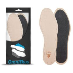 Przeciwpotne wkładki do butów ze skóry naturalnej