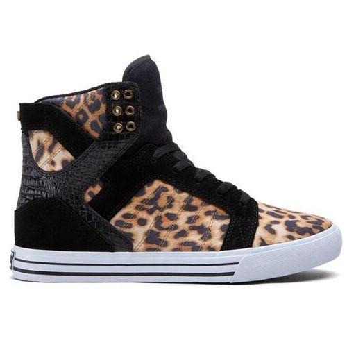 Męskie obuwie sportowe, buty SUPRA - Skytop High Cheetah/Black-White (BCT)
