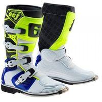 Buty motocyklowe, Gaerne buty cross junior sg-j white/blue/yellow fl