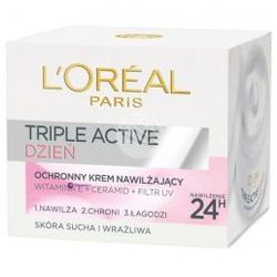 L'oreal Triple Active (W) ochronny krem nawilżający do twarzy na dzień 50ml