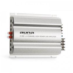 Auna C300.4 4-kanałowy wzmacniacz samochodowy 1200W PMPO 300W RMS srebrny