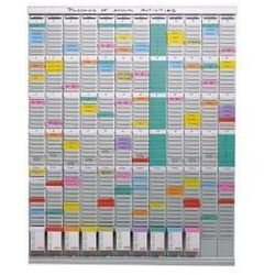 Planer z kartami T, planer roczny, 12 modułów, każdy z 54 szczelinami, z 1000 ka