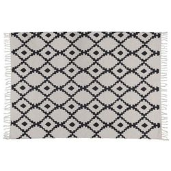 Dywan JALISCO w stylu berberyjskim — 100% bawełny — 120 × 170 cm — beżowy