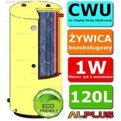 ERMET 120l surowy pionowy dwupłaszczowy bojler do CWU - podgrzewacz wymiennik bezobsługowy - WYSYŁKA GRATIS