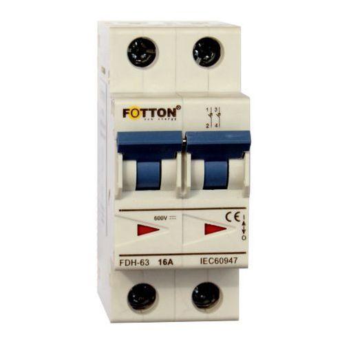 Baterie słoneczne, Rozłącznik FOTTON FDH-63 16A 2P 600V DC