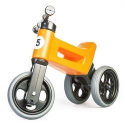 Rowerek biegowy dla dzieci FUNNY WHEELS Rider Sport 2w1, Srebrno-szary