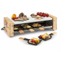 Klarstein Chateaubriand Nuovo, grill raclette, 1200 W, aluminium, na 8 osób, zdobienie drewniane