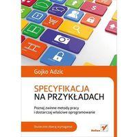 Informatyka, Specyfikacja na przykładach. Poznaj zwinne metody pracy i dostarczaj właściwe oprogramowanie (opr. miękka)