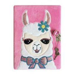 Pamiętnik pluszowy A5 Shining Girl 60 kartek Lama. Darmowy odbiór w niemal 100 księgarniach!