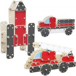CLASSIC WORLD Ogromne Klocki Konstrukcyjne Drewniane Zestaw Pojazdy