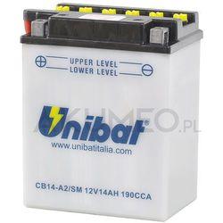 Akumulator UNIBAT CB14-A2/SM 12V 14Ah 190A lewy+ oL