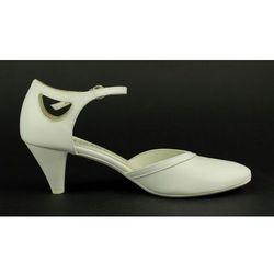 Czółenka ślubne Kotyl 464 - biały