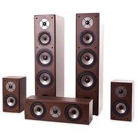 Pozostały sprzęt audio, Zestaw kolumn QUADRAL Quintas 6650 5.0 Orzech
