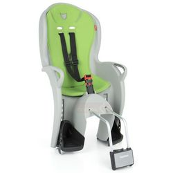 HAMAX Fotelik rowerowy KISS szary, zielona wyściół