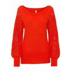 Sweter bez zapięcia bonprix jasny indygo