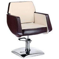 Fotel fryzjerski NICO brązowy-kremowy BD-1088