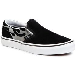Tenisówki VANS - Classic Slip-On VN0A4UH8WKJ1 (Suede Flame) Blk/Tr Wht
