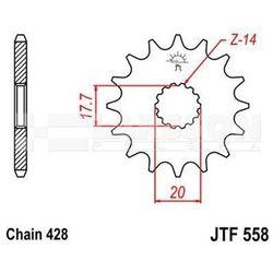 Zębatka przednia JT F558-15, 15Z, rozmiar 428 2200831 Yamaha TDR 125, DT 125