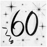 Pozostałe wyposażenie domu, Serwetki na sześćdziesiąte urodziny - 33cm - 20 szt.
