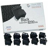 Tusze do drukarek, Wyprzedaż Oryginał 10-pak Tusz (kostki barwiące) Xerox ColorStix 016204400 do Xerox Phaser 8200 8200B 8200DP 8200DX 8200N | 14 000 str. | czarny black