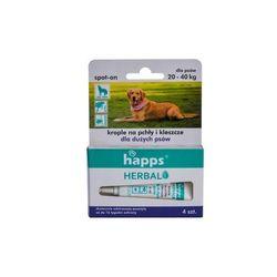 HAPPS Herbal - krople na pchły i kleszcze dla psów dużych ( do 40 kg)