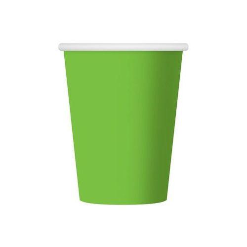 Naczynia jednorazowe, Kubeczki papierowe zielone - 270 ml - 6 szt.