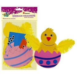 Zestaw kreatywny kurczak jajko 5szt pianka 7x11cm - kurczak w skorupce