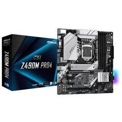 ASRock Płyta główna Z490M Pro4 s1200 4DDR4 HDMI/DVI/DSUB/M.2 mATX